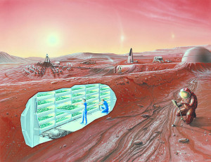 Mars Colony Concept - By NASA Ames Research Center (NASA Ames featured images) [Public domain], via Wikimedia Commons